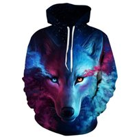 Mode Herbst Winter Tier Alte Digitaldruck Männer / Frauen Mit Kapuze Hoodies Cap Windjacke 3D Sweatshirts