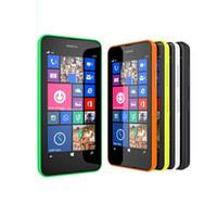Wholesale Original Android Os - 100% Original unlocked Nokia Lumia 630 Unlocked phones 512M 8G quad core 5MP camera 4.5 Inch Windows OS