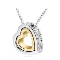 Wholesale Gold Eternal Love Pendant - Crystal necklace - Eternal Love 2016 fashion atmosphere of simple luxury fashion business lady necklace Austrian Honey