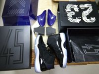 Wholesale Cutting Photos - AAA Top Quality Space Jam Air Retro 11 Concord Bred Gamma Basketball Shoes retro 11s sneakers Men Size With Box all same photo