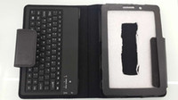 Wholesale BOHAI Bluetooth keyboard for Samsung GALAXY Tab inch for GT P6800 integrated slim design case