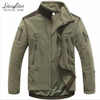Wholesale Army Style Jackets - Fall-Men Tactical clothing autumn winter fleece army jacket softshell outdoor hunting clothing men softshell military style jackets