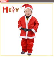 Wholesale Christmas Costumes For Teenage Boys - 1-3 Years Old Children Set Of 4 in One Suit Costume Christmas Clothing For boys Santa Claus Suit Cosplay Clothes Product Code : 95-1153