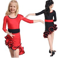 Wholesale Clothes For Kids Girls School - School Performance Child Children Dance Dress For Girls Cha-Cha Samba Dress Dancing Clothing Girl Dancewear Kid Latin Costume