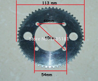 sprocket chain drive - Electric Scooter Bicycle Chinese Parts T Tooth Sprocket H Chain Drive Plate Steel Rear Sprocket ATV Quad Spare Motoparts