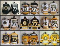 mes xl eishockey-tops großhandel-Herren-Boston-Bruins-Jerseys # 77 Ray Bourque CCM Weinlese-Eis-Hockey Jersey der Qualitäts-Qualitäts-, Größe M-XXXL, Stickerei-Logo kann Auftrag mischen