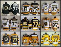 ingrosso mens xl top hockey su ghiaccio-Top Quality Mens Boston Bruins Maglie # 77 Ray Bourque CCM Vintage Hockey su ghiaccio Jersey, Taglia M-XXXL, Logo Ricamo Può mescolare Ordine