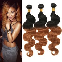 Two Tone 1B 30 Pacotes de cabelo peruano 3Pcs Ombre Body Wave Hair Extensions 100G / Piece 10