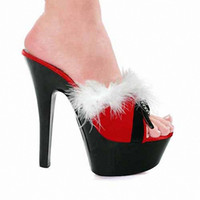 Wholesale Euramerican High Heels - 15 cm euramerican popularity shows DJ dance shoes Feather open-toed sandals evening show appeal for women's shoes