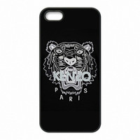 Wholesale iphone.4s case online - Black Tiger Phone Covers Shells Hard Plastic Cases for iPhone S S SE C S Plus ipod touch