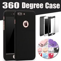 Wholesale iphone 5s glass sale online - Hot Sale Degree Coverage Full Body Tempered Glass Hard PC Case Cover For iPhone X plus S PLUS S SE