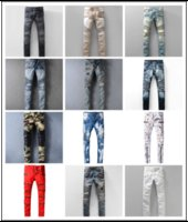 Wholesale Men Designer Jeans Sale - New France Pierre Ripped Jeans Men Runway Biker Skinny Slim Denim Trousers Cowboy Famous Brand Zipper Designer Hot Sale Mens Designer Jeans