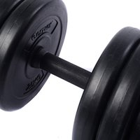 Nuovo peso Dumbbell Set 66 LB Regolazione Cap Gym Barbell Piastre Rod Hollow
