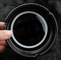 round ashtray großhandel-Der berühmte Aschenbecher aus Keramik mit Muster C wird mit dem klassischen weißen und schwarzen runden Aschenbecher mit Muster C kombiniert
