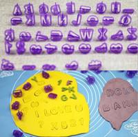anzahl fondant kuchen großhandel-40 stücke Alphabet Buchstaben Anzahl Fondant Kuchen Keks Backform Ausstechformen