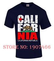 Wholesale black flag t shirt - California Republic T shirt state Bear Flag Souvenir Vintage Tees Gift for him