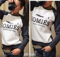 Wholesale Homies Tracksuit - Fashion 2016 New HOMIES Printed Sweatshirt Women Sport Suit Womens Sport Suit Womens Hoodies Casual TrackSuits Hoodies Casual TrackSuits