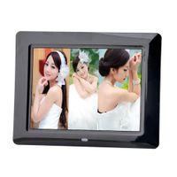 formatos de video venda por atacado-Moda ultra-fino de 8 polegadas de alta definição moldura digital LED photo frame eletrônico full player jogador de publicidade de vídeo