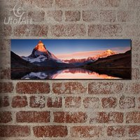 Europe Artist Snow Mountain Pintura a óleo para sala de parede Arte de parede Canvas Lake Painting Unframed Large HD Modern Modular Pictures