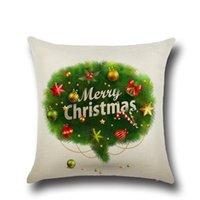 Wholesale Cheapest Home Decor - Cheapest Pillow Case Santa Claus Christmas Tree Snowman Pillow Case Cotton Linen Pillowcase Home Sofa Car Decor 45*45cm