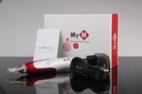 microneedle dermapen cartucho venda por atacado-Comprimentos ajustáveis da agulha do sistema de Microneedle de 5 velocidades auto pena do derma de 0.25mm-3.0mm MYM ULTIMA N2-C dermapen com o cartucho das agulhas de 2 PCes