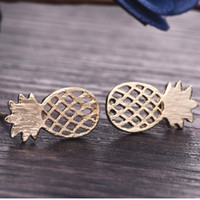 Wholesale friends decorations - Best Friend Gift Minimalist Decoration Tiny Cute Pineapple Stud Earrings For Women Men e060