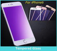 Wholesale Blu Screen Protector - Screen protector For iPhone 6 6s Plus 5.5 Screen Protect Anti Blu Ray Tempered Glass Screen Protector Eyes Protection Film Anti-scratch
