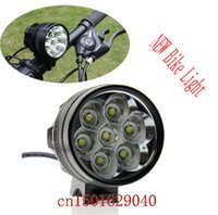 Wholesale Xml T6 Bike - Waterproof 10000Lm 7 x XML T6 LED Bright Bicycle Bike Front Flash Light + 10000mAh Rechargeable Battery Pack