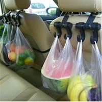 autositze haken großhandel-heißer Verkauf 1 PC Auto-Aufhänger-Selbstbeutel-Organisator-Haken-Zusatz-Halter-Kleidung, die Halter-Sitz hängt Helfen Sie dem Auto-Anreden