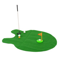 Lustiges Toiletten-Bad Mini-Golf Mat Potty Putting Putter Adult Game Set Herren-Spielzeug-Neuheit-Geschenk