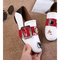 buckle strap men spring and fall hot sale womens casual shoes brand luxurious pumps black white red love for business affairs agrafe butterfly decoration - Fall Decorations For Sale
