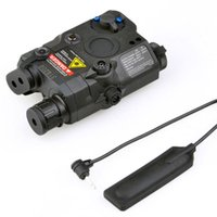 Wholesale Tactical Red Laser Torch - Sinairsoft Tactical PEQ-15 Red Laser with White LED Flashlight Torch IR illuminator For Airsoft Hunting Outdoor Black Dark Earth