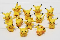 Wholesale Ornaments Decorate - 6styles mini Poke Figure Toys 3-5cm pikachu doll toys Decorate Kids cartoon Pikachu models Ornaments