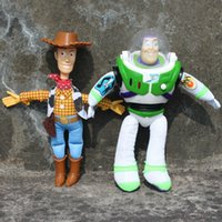Wholesale Soft Plush Woody Doll - 8' 20cm 2pcs set Toy Story Woody & Buzz Lightyear Plush Doll Soft Toy Free shipping