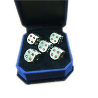 Wholesale vintage dice resale online - 11 mm Copper Set Dice Set With Artificial Diamond Solid Brass Handmade Polished Dices Sets Vintage Collection Decoration Accessories S49
