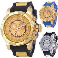 Wholesale Wholesale Shors - Mens Military Watches Men SHHORS Sport Watch Waterproof Silicone Quartz Wristwatches Fashion Big Dial surface Case Climbing Watch SHORS