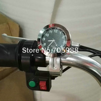 Wholesale Aluminum Clocks - Black Motorcycle Watch Aluminum Clock Handlebar Motorcycle Accessory weatherproof shock resistant