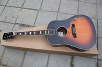 Wholesale guitar vintage custom resale online - handcrafted guitar classica inch wood color string custom E style acoustic electric guitar Vintage sunburst color