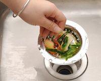 Wholesale Kitchen Sink Drain Strainer - Kitchen Basin Drain Dopant Sink Waste Strainer Basket Leach Plug Stainless Steel