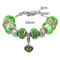 Wholesale Diy Glass Bracelet Beads - Unique Love Charm Murano Glass Beads Fit Pandora Bracelet For Women With Heart Pendant Bracelets DIY Jewelry SBR150061