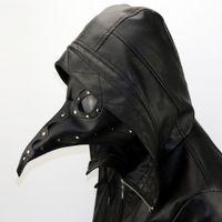 Wholesale Play Tale - 2017 Halloween Plague beak mask PU Leather Steampunk Steam Punk Gothic Bird Beak Mask Goggles Plague Doctor Cosplay Role Play Costume