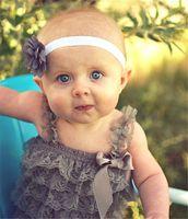 Wholesale Baby Headress - Baby Headbands Flower Kids Girls Chiffon Elastic Hairbands Hair Accessories Children Princess Headwear Headress 22 Colors KHA192