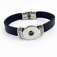 Wholesale Dres For Party - Fashion Direct Selling New Sterling Jewelry Jewelry Bracelets For Retro Leather Snap Button Bracelet Bt105 ( Fit 18mm 20mm Snaps) party dres