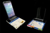 mobiltelefone displayhalter stehen großhandel-Großhandel 2016 Neue Stil Klaren Acryl Mobile Handy Display StaClear Acryl Mobile Handy Display-ständer halter rack mit Großen Basis