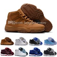 Wholesale Owl Canvas - Free shipping Cheap new high quality Air Retro 11 white cat owl Basketball Shoes Mens 11S XI Authentic Sports Shoes size 40-47