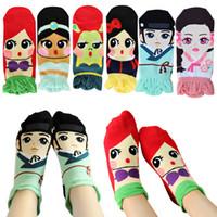 Wholesale White Socks Ruffles - Frozen Socks mermaid Ladies Socks Teenager Korea Socks Ruffle Socks Princess Snow white Elsa Anna Cotton Socks for Women Ankle Sock in stock