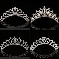 Cute Children tiara crown Bijoux de mariage Flower girl princesse cristal strass Tiara Birthday Prom Party Gift