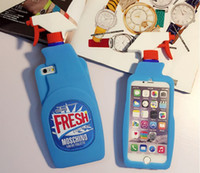 For Apple iPhone spray se - Blue Fresh Couture Fragrance Cleaning Spray Bottle Cover Soft Silicone Case For Iphone S S Plus I6S SE Phone Rubber Cover Skin