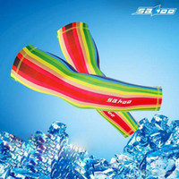 Wholesale Uv Arm Protectors - New Cycling Arm Sleeves Winter Bike Arm Covers Warmers Bicycle Anti UV Breathable Manguito De Ciclismo Protector Bicicleta
