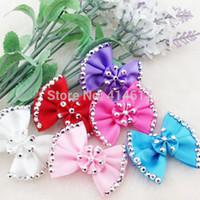 ingrosso cristallo applique a nastro-30pc papillon e Rinestone Crystal Ribbon fiore Appliques Craft Wedding Upick A0171